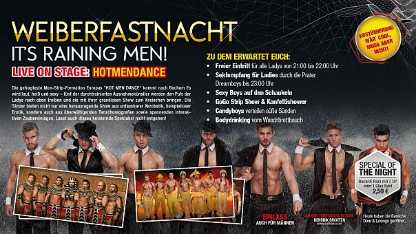 WEIBERFASTNACHT 2017: IT'S RAINING MEN!