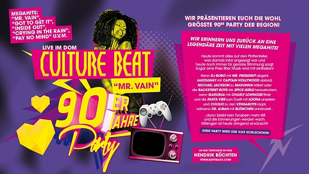 90ER JAHRE PARTY MIT CULTURE BEAT