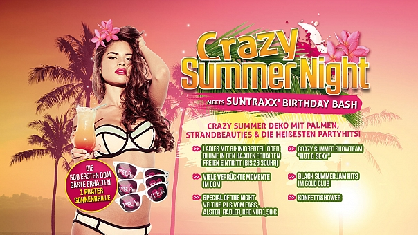 CRAZY SUMMER NIGHT vs SUNTRAXX ´Birthday Bash