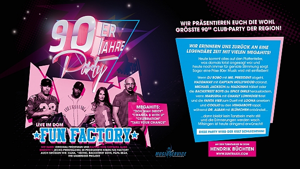90ER JAHRE PARTY MIT FUN FACTORY