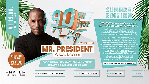 90er Jahre Party Mr. President